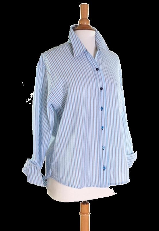 Ladies Seersucker Shirt