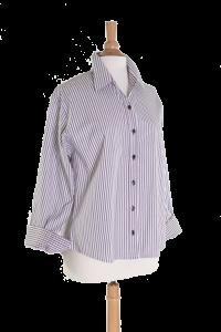 Easycare Purple and Black Stripe