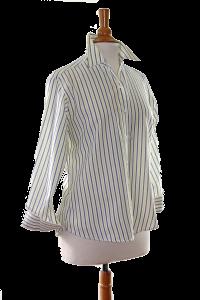 Lemon/Light Navy Stripe